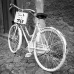 Altes Fahrrad in Tuscania