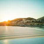Sonnenuntergang beim Auslaufen aus Ajaccio mit AIDAprima
