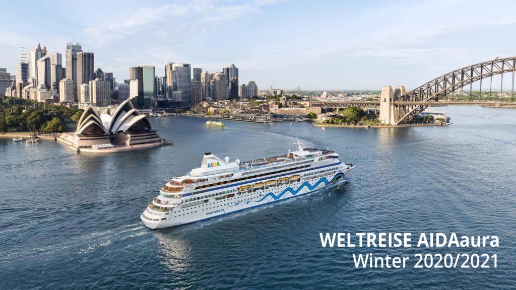 Weltreise AIDAaura im Winter 2020 / 2021