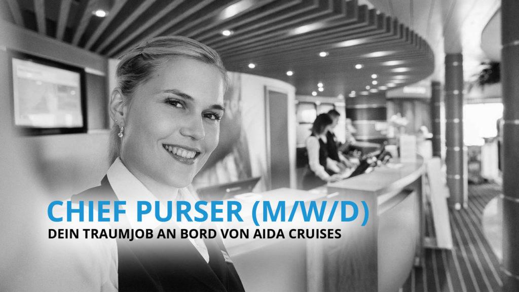 Chief Purser - Dein Traumjob an Bord von AIDA Cruises!