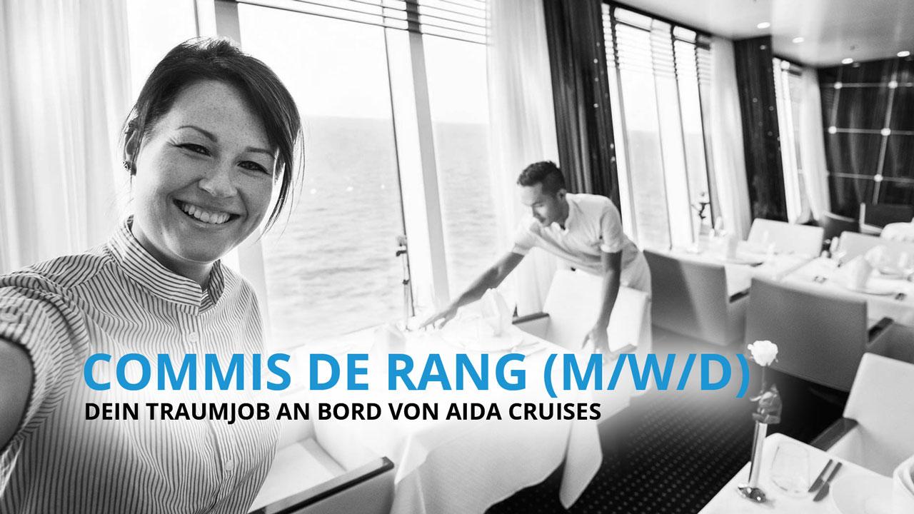 COMMIS DE RANG - Dein Traumberuf an Bord von AIDA Cruises!