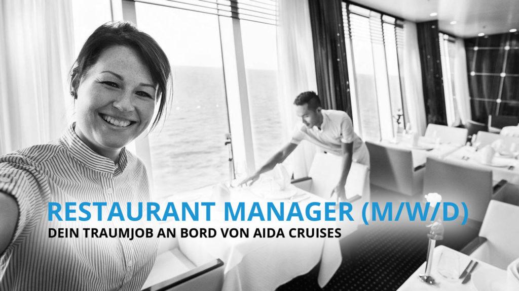 Restaurant Manager - Dein Traumberuf an Bord von AIDA Cruises