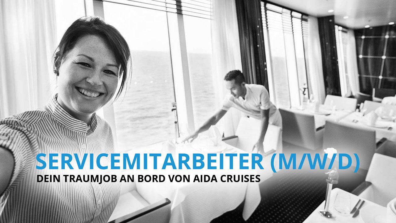 Servicemitarbeiter - Dein Traumjob an Bord von AIDA Cruises!